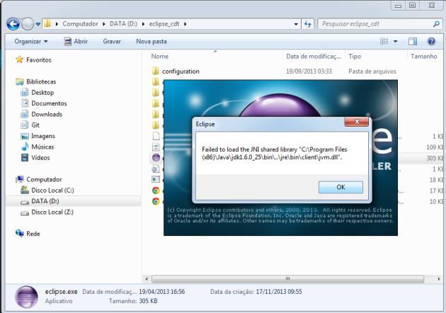 Eclipse CDT Open Error